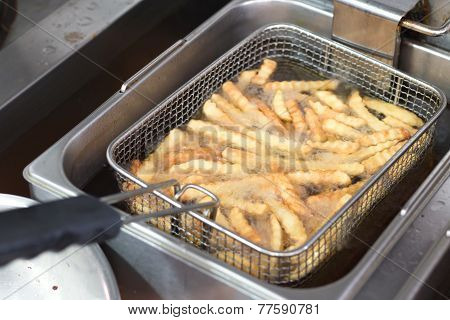 Cooking French Fries In A Fryer