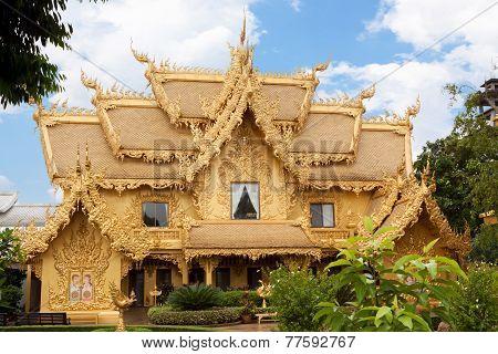 Chiang Rai; Thailand-August 03: Golden House