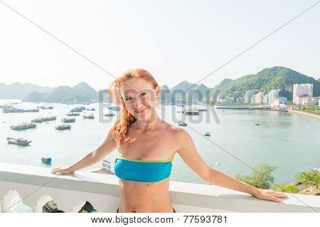 Tourist at Halong cruise