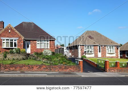 Typical redbrick english houses