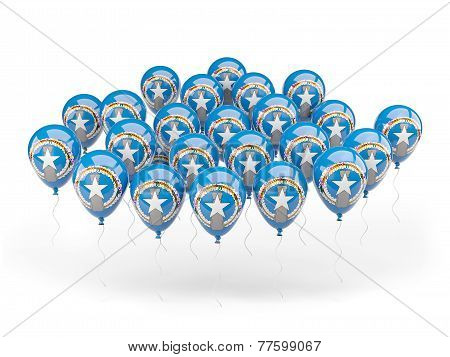 Balloons With Flag Of Northern Mariana Islands