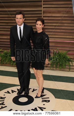 LOS ANGELES - MAR 2:  Jason Bateman, Amanda Anka at the 2014 Vanity Fair Oscar Party at the Sunset Boulevard on March 2, 2014 in West Hollywood, CA