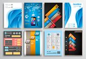 stock photo of web template  - Set of Flyer Design - JPG