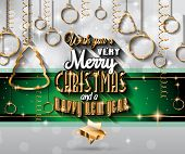picture of christmas party  - 2015 New Year and Happy Christmas background for your flyers - JPG