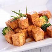 picture of soy sauce  - grilled tofu with soy sauce - JPG