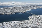 picture of tromso  - Aerial view to the city of Tromso - JPG