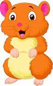 foto of hamster  - illustration of Cute hamster cartoon isolated on white - JPG