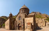 foto of armenia  - The ancient Christian temple Geghard in the mountains of Armenia - JPG