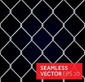 stock photo of safety barrier  - Vector seamless wired fence background - JPG