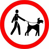 pic of dog poop  - Vector Illustration of the Keep Dogs on a Leash Symbol - JPG