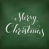 stock photo of winterberry  - Christmas Chalkboard pattern - JPG
