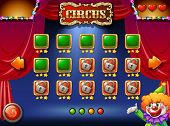 stock photo of circus clown  - A circus computer game - JPG