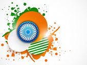 image of indian independence day  - Indian Republic Day and Independence Day celebrations with Ashoka Wheel - JPG