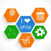 image of indian independence day  - Stylish sticker - JPG