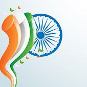 pic of indian independence day  - Creative background for Indian Republic Day and Independence Day celebration with stylish national flag color - JPG