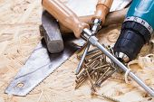 stock photo of joinery  - Battery - JPG