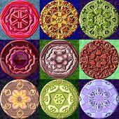 foto of orbs  - Set of jewelled metal orb generated textures - JPG