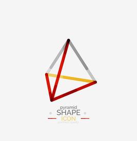 image of pyramid shape  - Pyramid shape line design - JPG
