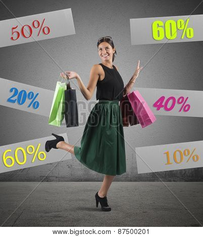 Shopping with sale