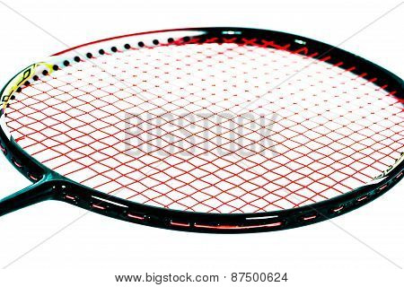 Close Up Badminton Racket