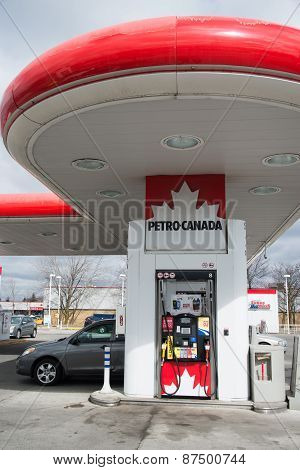 Petro Canada Gas Station In Toronto
