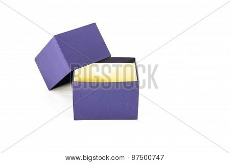 Package Blue Box Package On White Background