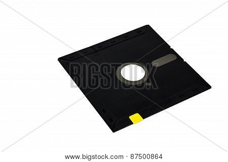 Floppy Disk Magnetic Computer Data Storage Support Isolated