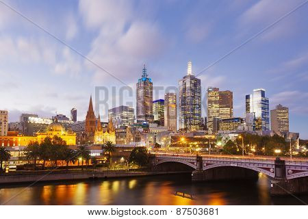 View of modern buildings in Melbourne, Australia