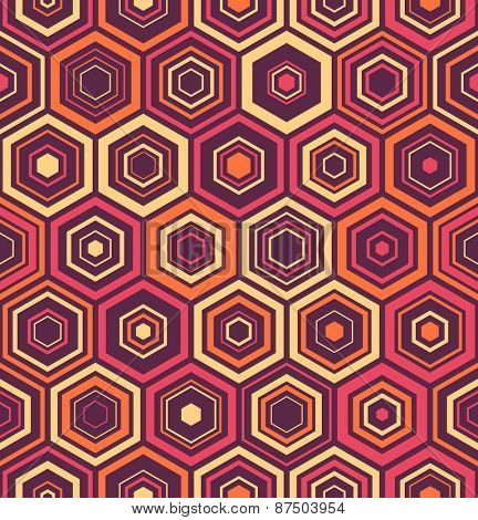 Seamless Hexagon Pattern. Vector Background