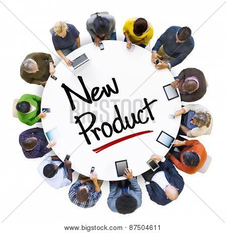 Business New Product Promotion strategy Digital Communication Concept