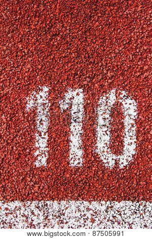 Number On The Running Track Rubber