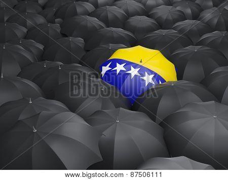 Umbrella With Flag Of Bosnia And Herzegovina