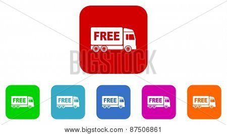 free delivery vector icon set