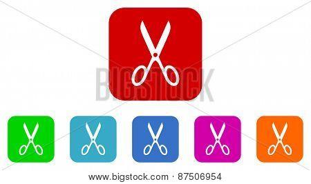 scissors vector icon set
