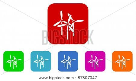 windmill vector icon set