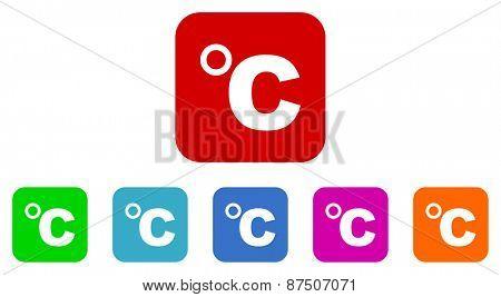 celsius vector icon set