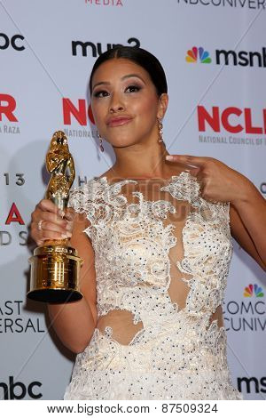 LOS ANGELES - SEP 27:  Gina Rodriguez at the 2013 ALMA Awards - Press Room at Pasadena Civic Auditorium on September 27, 2013 in Pasadena, CA