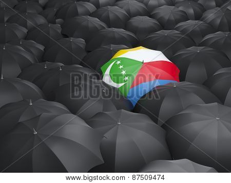 Umbrella With Flag Of Comoros