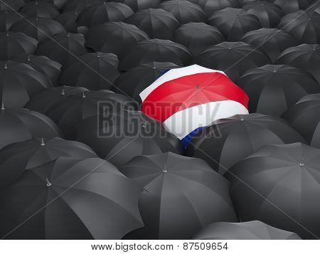 Umbrella With Flag Of Costa Rica