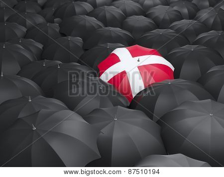 Umbrella With Flag Of Denmark