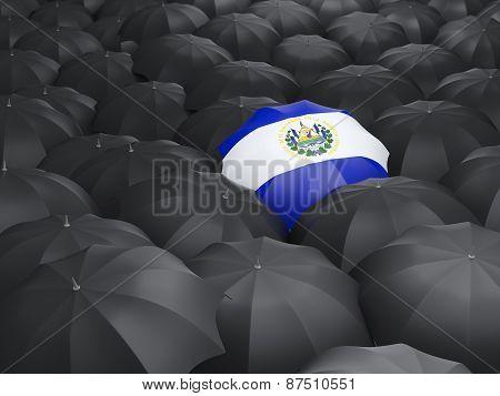 Umbrella With Flag Of El Salvador
