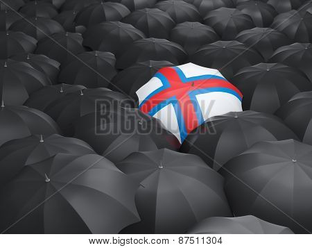 Umbrella With Flag Of Faroe Islands