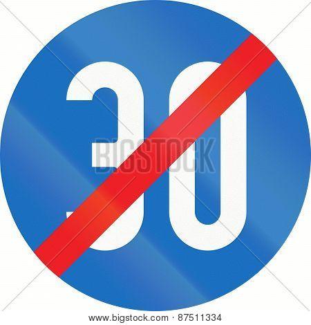 End Of Minimum Speed 30 In Austria
