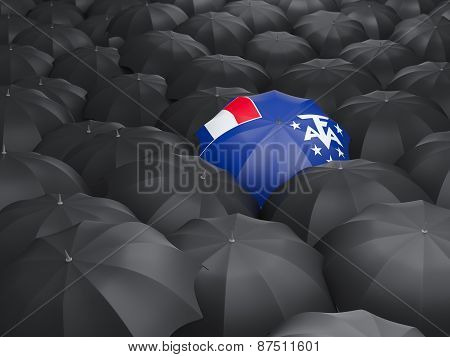 Umbrella With Flag Of French Southern Territories