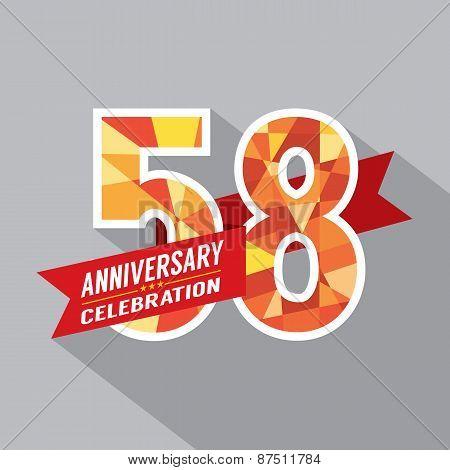 58Th Years Anniversary Celebration Design.
