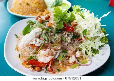 Spicy Noodle Salad, Spicy Vermicelli Salad (yum Woon Sen).