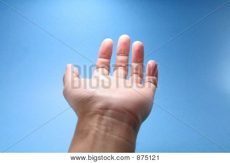 Mão chegar ao céu