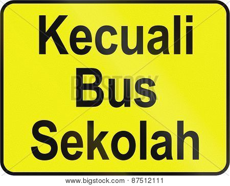 Except School Bus In Brunei