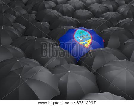 Umbrella With Flag Of Guam