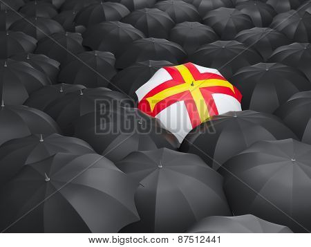 Umbrella With Flag Of Guernsey